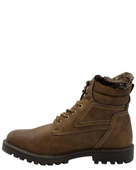 VIM Men'S 6 Inch Fur Boot - Tan - Vim.com