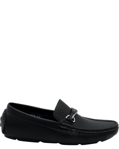 Marco Vitale Men'S Driving Moc Buckle Shoe - Black - Vim.com