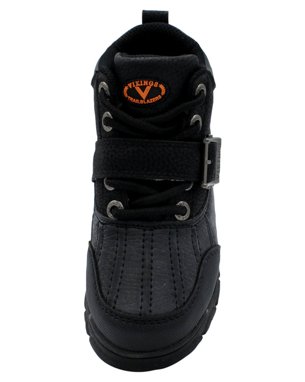 Viking Boys' Iriving Lace Up Buckle Hiking Boots (Pre School) - Black - Vim.com