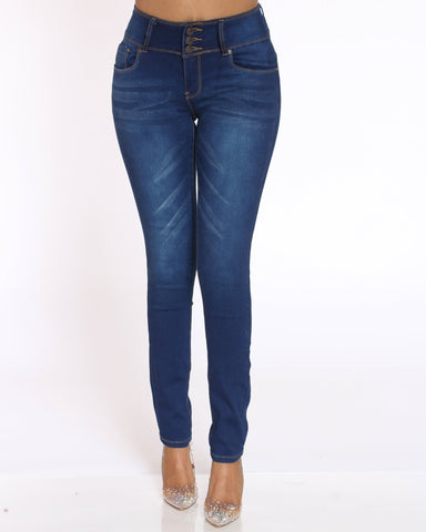 Women's Carla Push Up Jean - Dark Blue