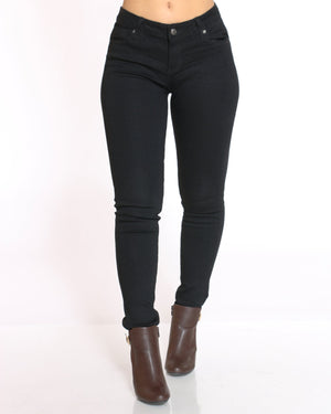 Women's Push Up Skinny Fit Jean - Black