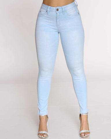 YMI-Women's Logan Betta Butt Skinny Jean - Bleach-VIM.COM