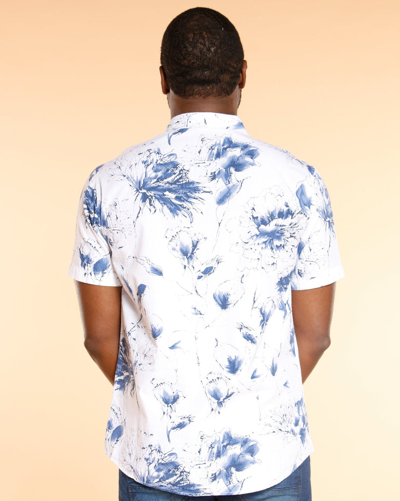 VIM Floral All Over Woven Shirt - White - Vim.com