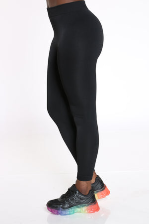 Women's Fleece Lined Legging - Black