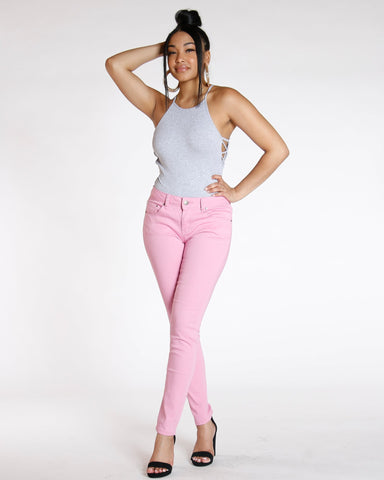 Destiny Apparel Must Have Classic Stretch Twill Pant - Mauve - ShopVimVixen.com