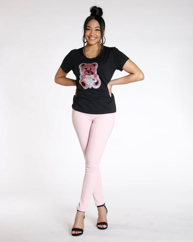 Destiny Apparel Must Have Classic Stretch Twill Pant - Blush - ShopVimVixen.com