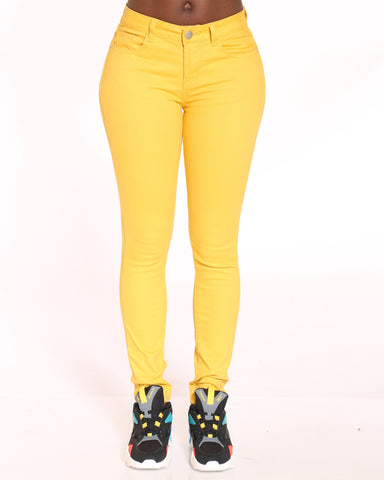 VIM VIXEN Emerald 5 Pocket Stretch Pant - Mustard - ShopVimVixen.com