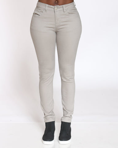 VIM VIXEN Emerald 5 Pocket Stretch Pant - Grey - ShopVimVixen.com