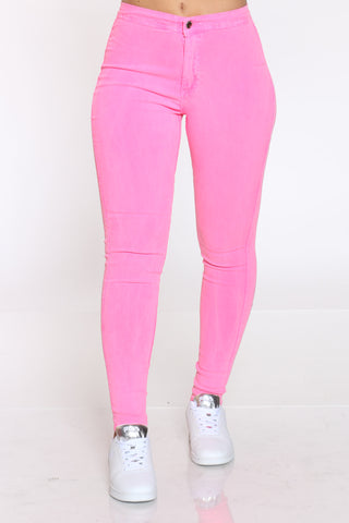 Women's Highwaist Skinny Jean - Pink