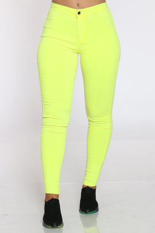 Women's Highwaist Skinny Jean - Yellow-VIM.COM