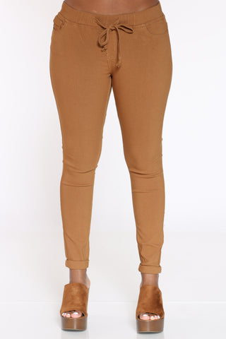 Women's Jog Top Cuffed Pant - Tobacco-VIM.COM