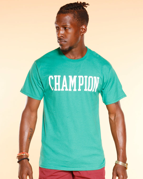 CHAMPION Champion Full Block Tee - Kelly Green - Vim.com