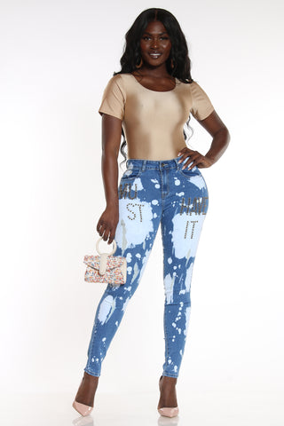 Moo, Get Out The Way Ripped Jean - Acid Blue-VIM.COM