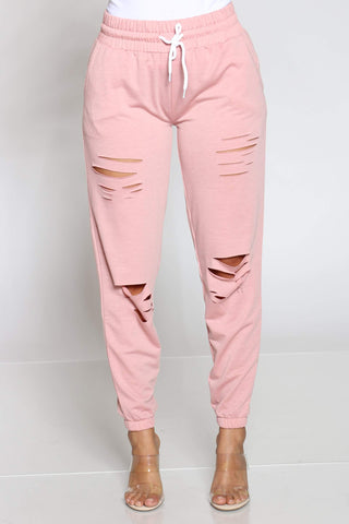Women's Hulda French Terry Slits Jogger - Mauve
