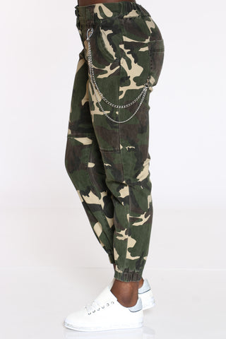Women's Side Chain Jogger - Camo-VIM.COM