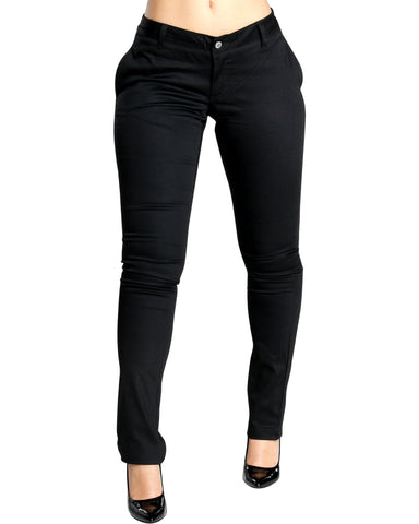 DICKIES Nora Four Pockets Skinny Pant - Black - ShopVimVixen.com