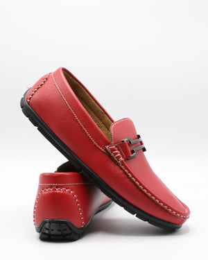 VIM Men'S Driving Buckle Shoe - Red - Vim.com