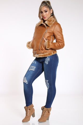 Women's Ripped Rayon Super Soft Jean - Dark Blue-VIM.COM