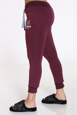 Blessed Never Stressed True Rock Jogger - Burgundy-VIM.COM