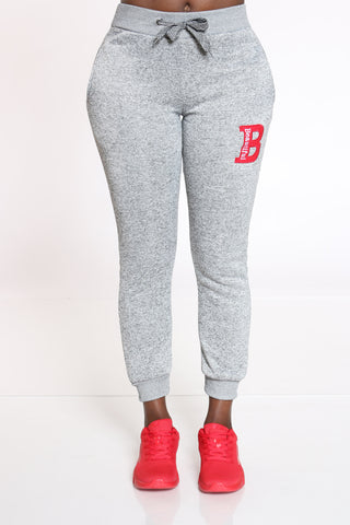 Women's B Patch Marled Jogger - Heather Grey-VIM.COM