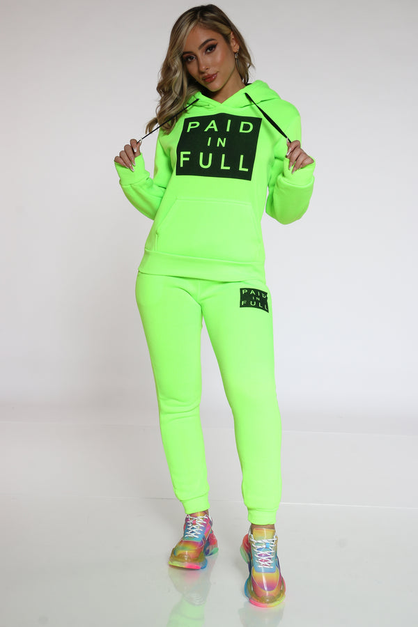 Women's Paid In Full Fleece Jogger - Green