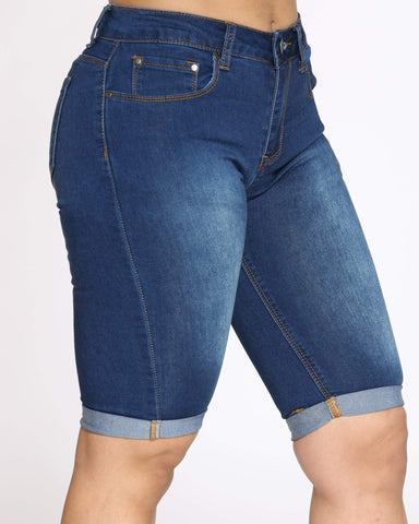 Women's Rabeena Denim Short - Dark Indigo-VIM.COM