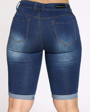 Women's Rabeena Denim Short - Dark Indigo