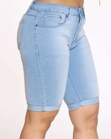 Women's Rabeena Denim Short - Light Indigo-VIM.COM