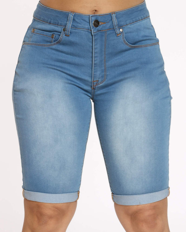Women's Denim Short - Medium Indigo-VIM.COM