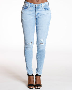 LEVI'S 710 Deja Vu Super Skinny Jean - Light Blue - ShopVimVixen.com
