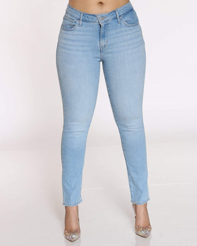 LEVI'S-Women's 711 Sidetracked Jean - Blue-VIM.COM