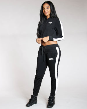 VIM VIXEN Full Zip Love Fleece Top - Black - ShopVimVixen.com