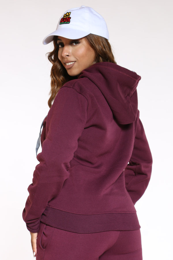 Women's True Rock Pullover Hoodie - Burgundy