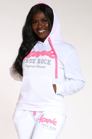 Women's Can't Take My Place Iconic Pullover Hoodie - White