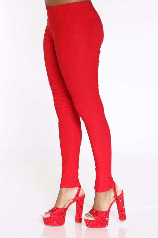 Women's Moto Millenium Pull On Pant - Red