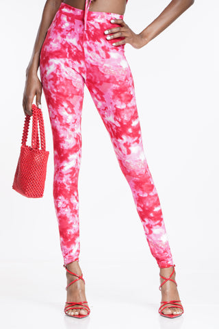 Rock With Me Legging - Pink Red-VIM.COM