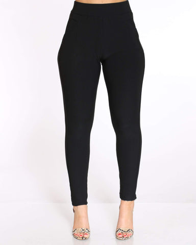 Women's Lera Scuba Solid Legging - Black