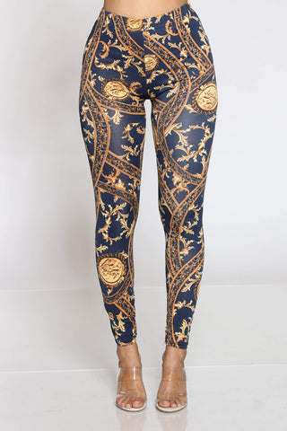 Women's Chelsea Printed Legging - Blue