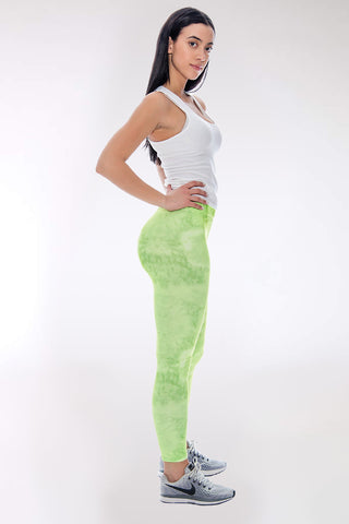 Women's Tori Tie Dye Legging - Green