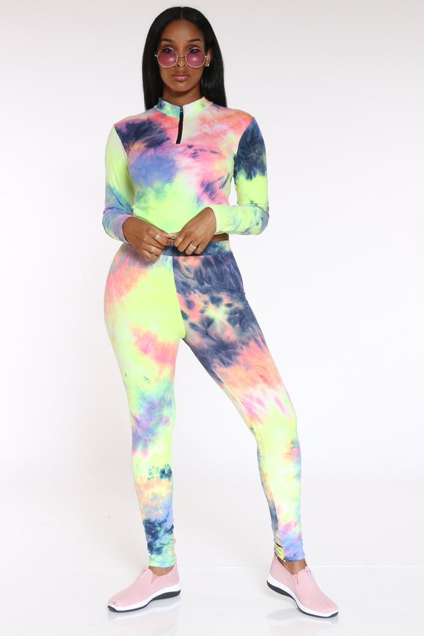 Women's Tie Dye Yummy Legging - Rainbow