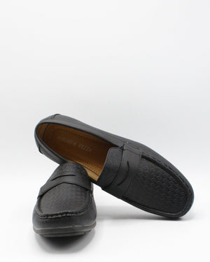 VIM Men'S Driving Moc Weave Shoe - Black - Vim.com