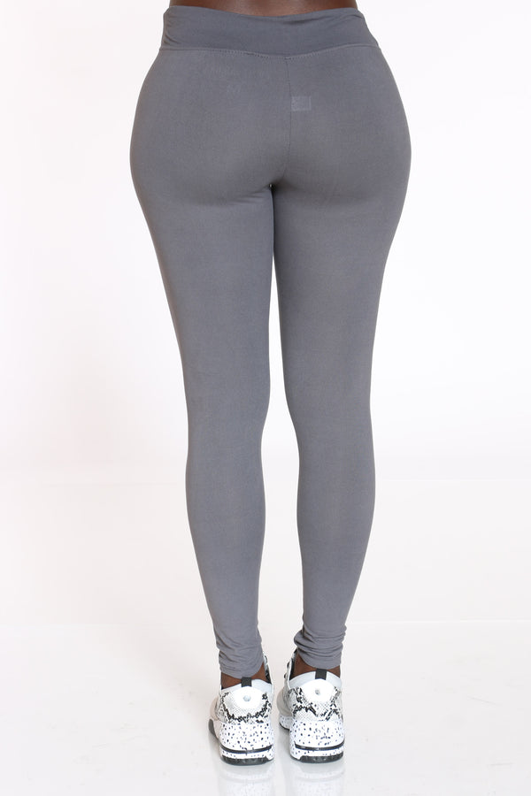 On The Daily Yummy Legging - Charcoal Grey