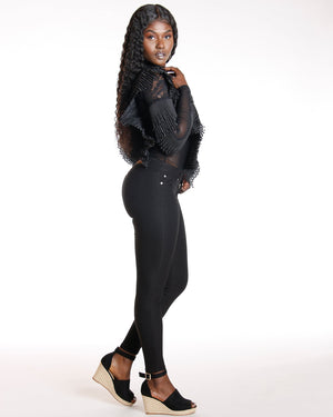 VIM VIXEN Kylie Butt Lift Super Stretch Pant - Black - ShopVimVixen.com