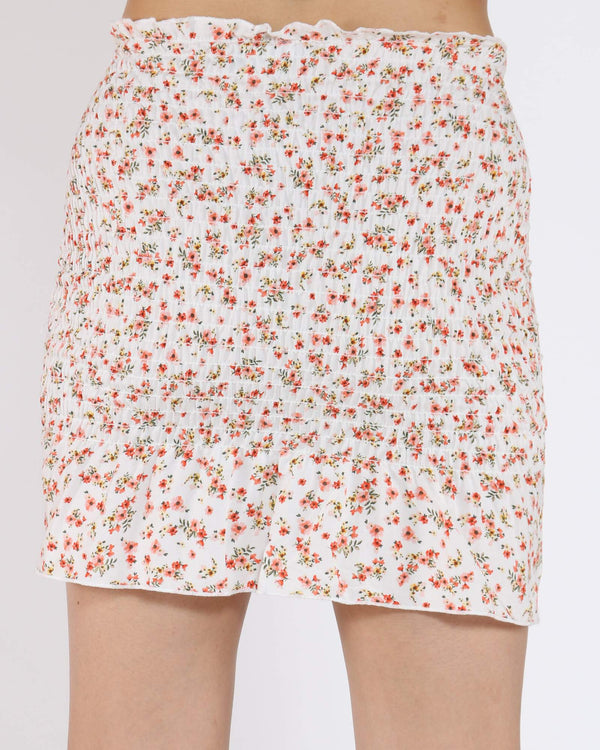 Women's Veronica Floral Midi Skirt - White