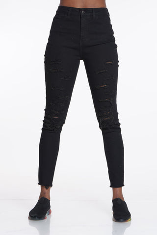 Dare To Defy Ripped Jean - Black-VIM.COM