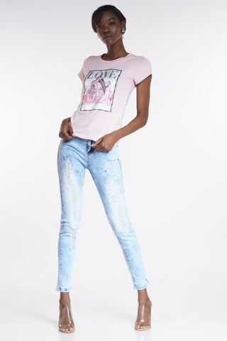 Amanda Rhinestone Ripped Jean - Light Blue-VIM.COM