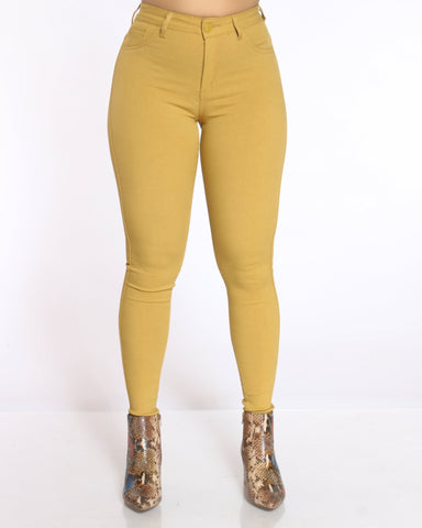 Women's Delina Hyper Stretch High Waist Jean - Mustard