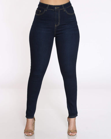 Women's Lindy High Waist Skinny Jean - Dark Blue