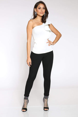 Women's Hyper Stretch Highwaist Jean - Black-VIM.COM