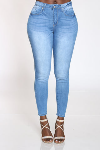 Women's Highwaist Skinny Jean - Light Blue-VIM.COM